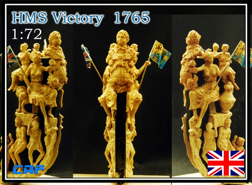 HMS Victory 1765 boxwood figurehead DIY wood model ship figurehead