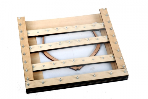 POF alignement fixture for wooden model ship